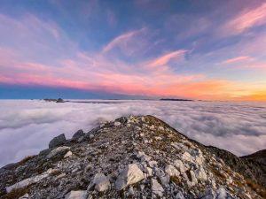 Alba sul Monte Pania